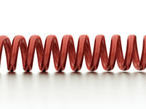 Red spiral string Royalty Free Stock Image
