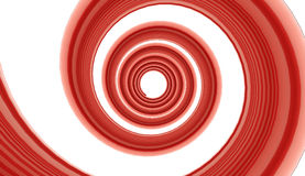 Red spiral on white Stock Photo
