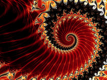 Red spirals Royalty Free Stock Photos