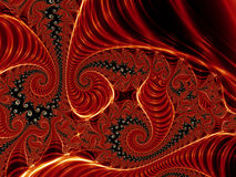 Red spirals Royalty Free Stock Photo