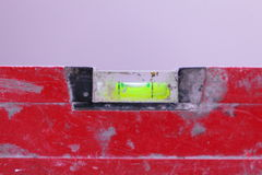 Red spirit building level in construction site Stock Photos