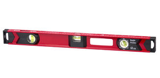 Red Spirit Level Stock Photography