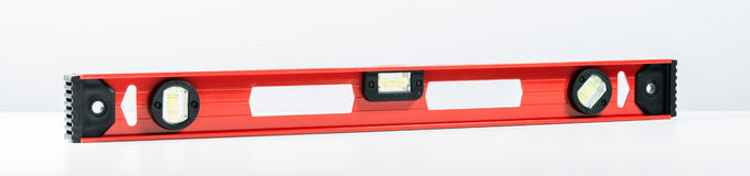 Red spirit level isolated Royalty Free Stock Image