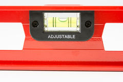 Red spirit level isolated Stock Photo
