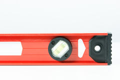 Red spirit level isolated Royalty Free Stock Photography
