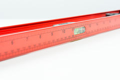 Red spirit level isolated Stock Image