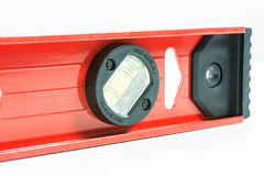 Red spirit level isolated. On over white background Stock Photography