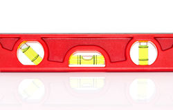 Red spirit level with shadow. On white background Royalty Free Stock Photo