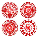 Red spirograph ornament tattoo Royalty Free Stock Image