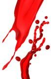 Red splash Stock Image