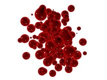 Red splash Royalty Free Stock Photo
