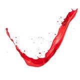 Red splash. Red paint splash, isolated on white background royalty free stock photo