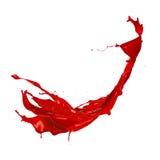 Red splash. Red paint splash, isolated on white background stock photography