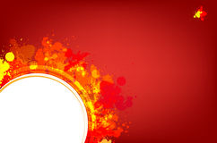 Red splash background with place for text Stock Image