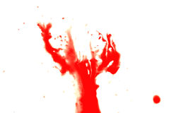 Red splash of blood Stock Images