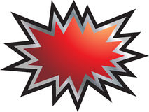 Red splash boom new. Gradient red boom splash icon in vectors Stock Image