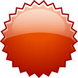 Red splash boom new. Gradient red boom splash icon Royalty Free Stock Photography