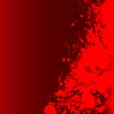 Red splash on dark red background. Stock Images