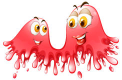 Red splash with faces Stock Image