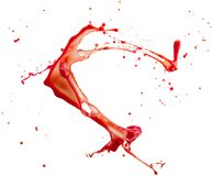 Red splash isolated on a white background.  royalty free stock images