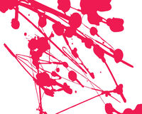 Red splashed paint. A fully scalable vector illustration of Red splashed paint stock illustration