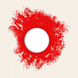Red splashes of paint Royalty Free Stock Photo