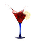 Red Splashing Martini Royalty Free Stock Photography