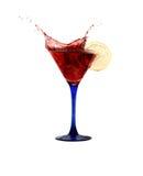 Red Splashing Martini Royalty Free Stock Photography