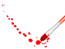 Red splat brush Stock Image