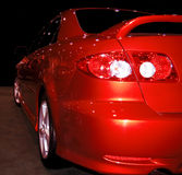 Red Spoiler. Sports car with spoiler royalty free stock photo