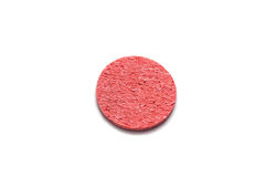 Red sponge. For face isoleted on white bachground Stock Image