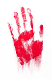 Red Spooky hand Royalty Free Stock Photography