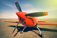 Red sport aircraft. Stock Image