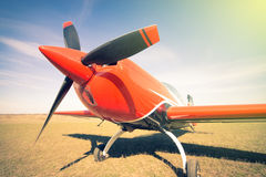Red sport aircraft. Royalty Free Stock Photography