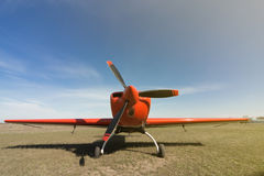 Red sport aircraft. Stock Photography
