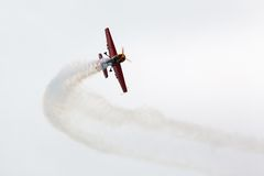 Red sport aircraft Stock Photo