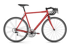 Red sport bicycle isolated on white Stock Photo