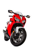 Red sport bike. On a white background Royalty Free Stock Images