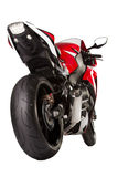 Red sport bike stock photography