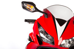Red sport bike. On a white background Stock Photos