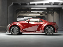 Red sport car Royalty Free Stock Images
