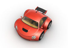 Red sport car. 3d isolated on white background micromachines series Stock Photo