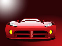 Red sport car Royalty Free Stock Image