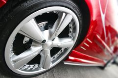 Red Sport Car Stock Photography