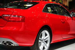 Red sport car. Red coupe sport car made in Germany Royalty Free Stock Photo