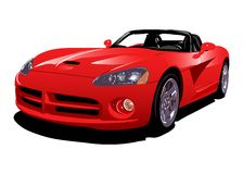 Red sport car. The vector illustration of sport car Royalty Free Stock Photos