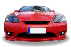 Red sport car. Background. Red sport car isolated on white background Royalty Free Stock Images