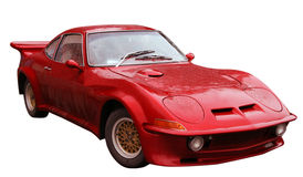 Red sport car. Red classic retro sport car royalty free stock image
