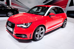 Red sport car Audi A1 Royalty Free Stock Photography