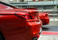 Red sport car details Stock Photo